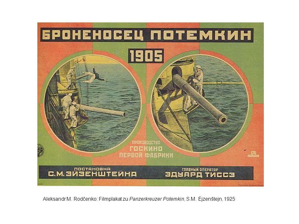 Aleksandr M. Rodčenko: Filmplakat zu Panzerkreuzer Potemkin, S. M