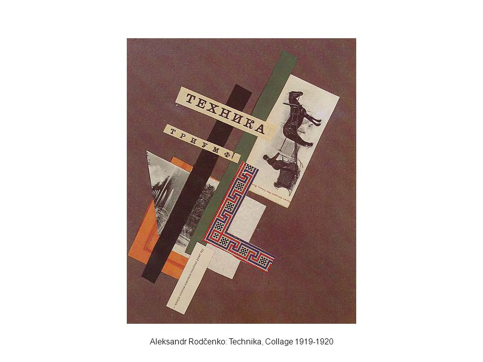 Aleksandr Rodčenko: Technika, Collage 1919-1920