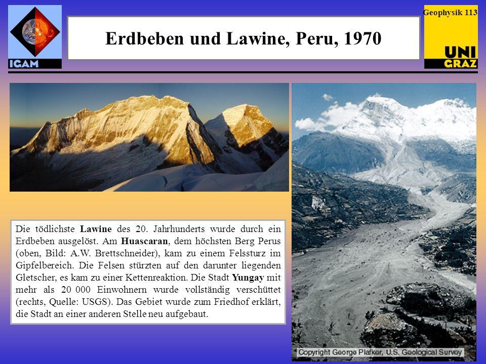 Erdbeben und Lawine, Peru, 1970