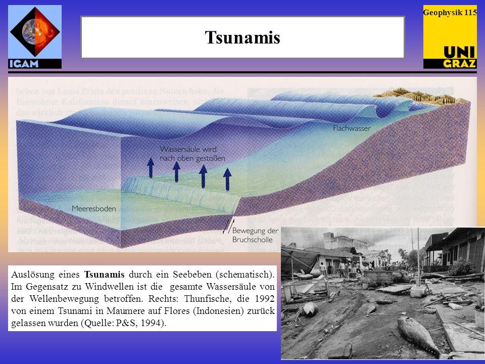 Geophysik 115 Tsunamis.