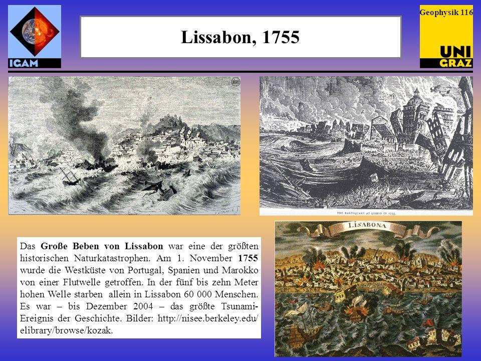 Geophysik 116 Lissabon, 1755.