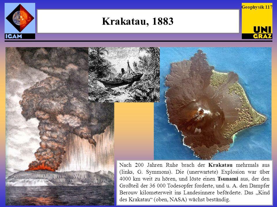Geophysik 117Krakatau, 1883.
