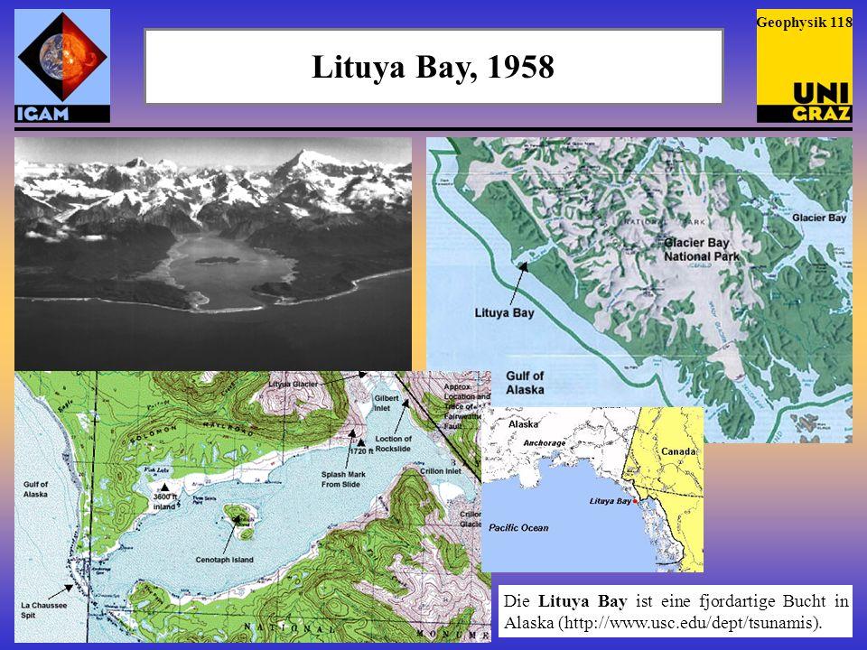 Geophysik 118 Lituya Bay, 1958.