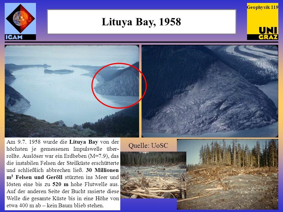 Lituya Bay, 1958 Quelle: UoSC