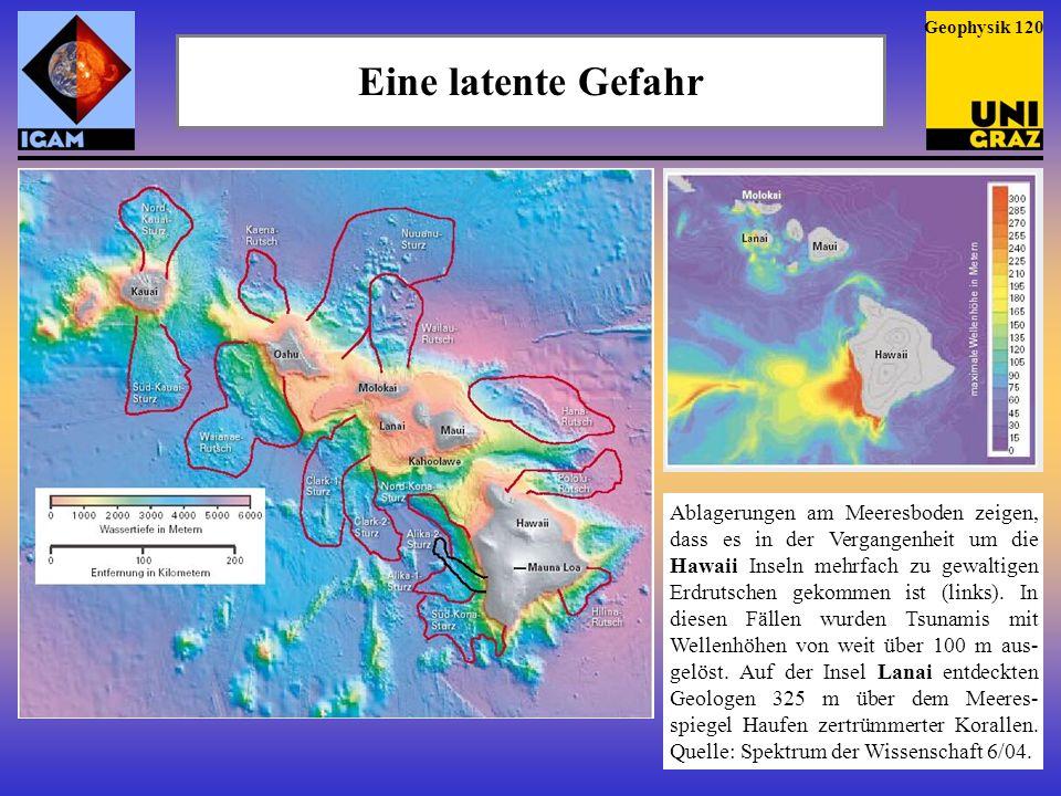 Geophysik 120 Eine latente Gefahr.