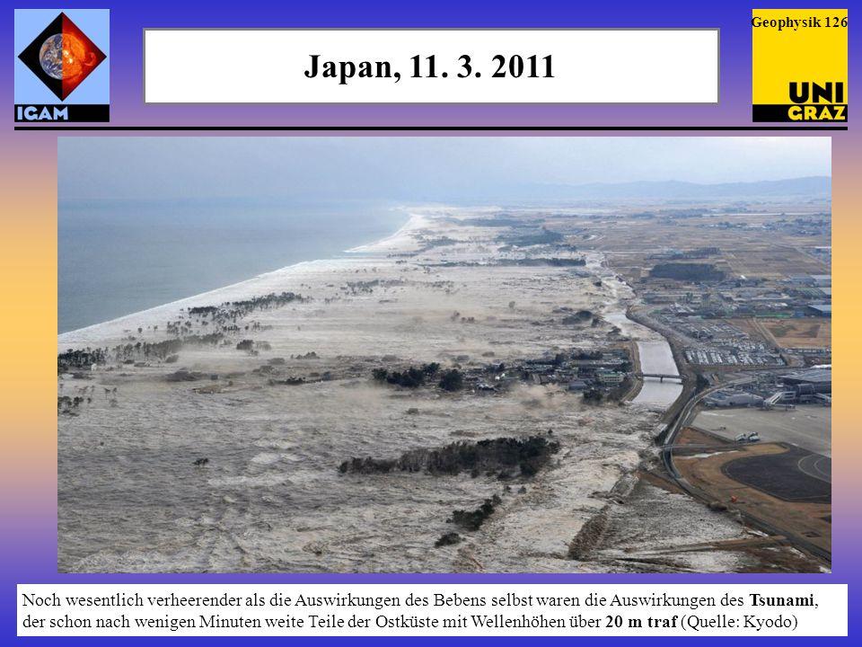 Geophysik 126 Japan, 11. 3. 2011.