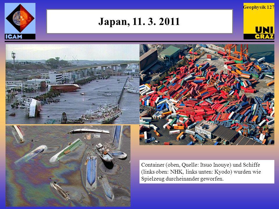 Geophysik 127 Japan, 11. 3. 2011.