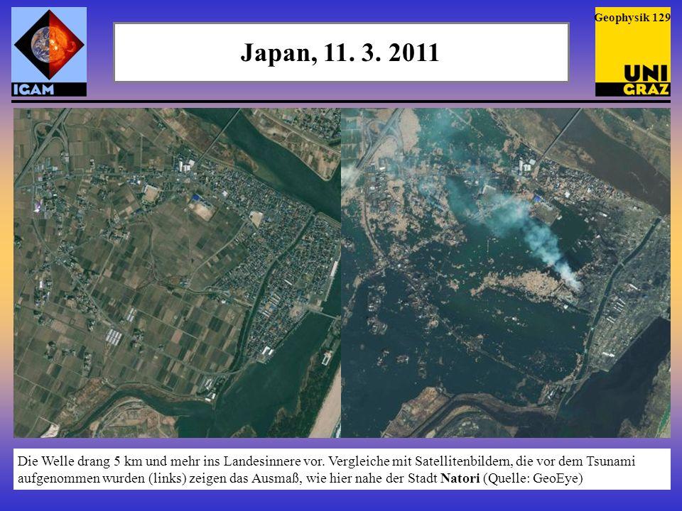 Geophysik 129 Japan, 11. 3. 2011.