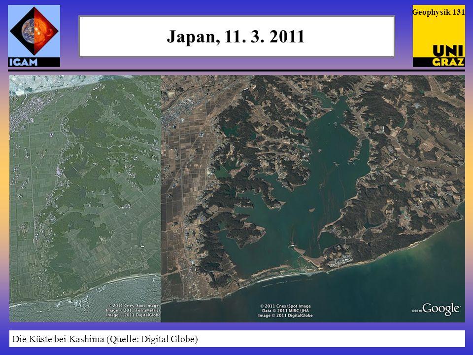 Japan, 11. 3. 2011 Die Küste bei Kashima (Quelle: Digital Globe)