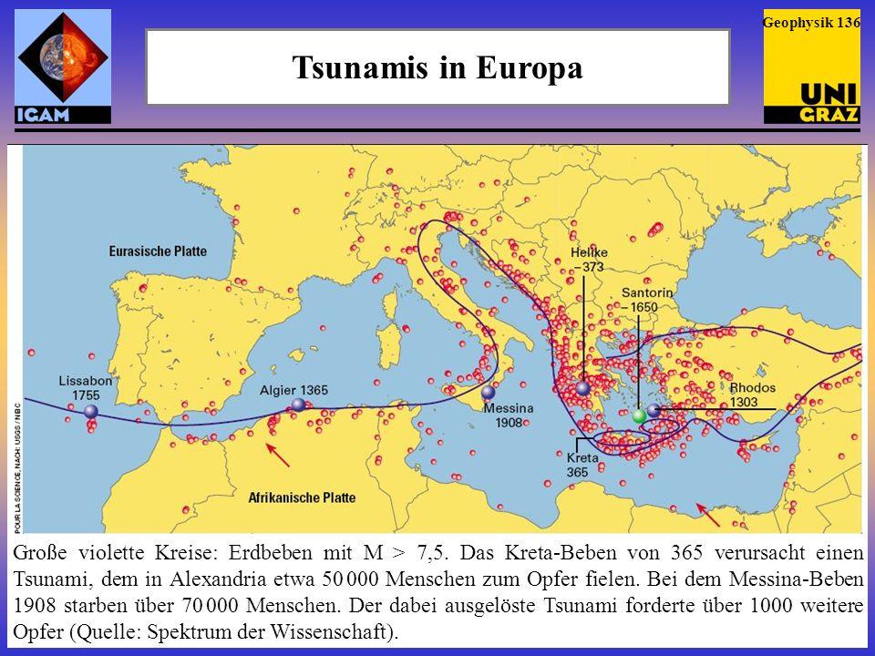 Geophysik 136 Tsunamis in Europa.