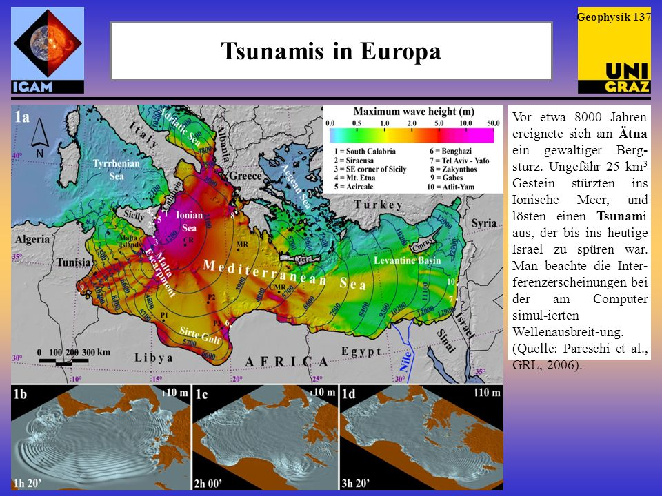 Geophysik 137 Tsunamis in Europa.