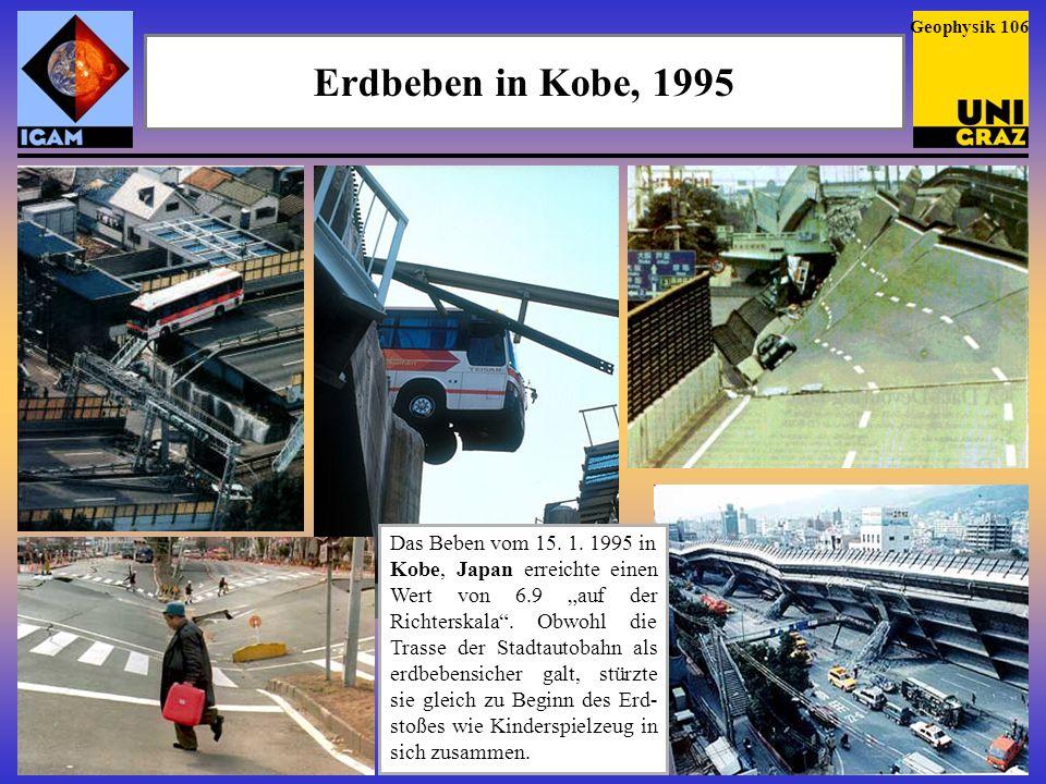 Geophysik 106Erdbeben in Kobe, 1995.