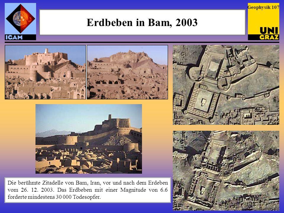 Geophysik 107 Erdbeben in Bam, 2003.