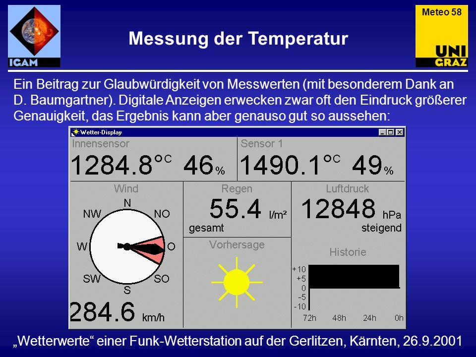 Messung der Temperatur