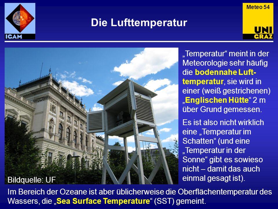 Meteo 54 Die Lufttemperatur.