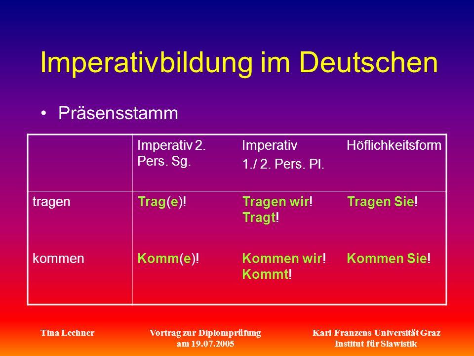 Imperativbildung im Deutschen