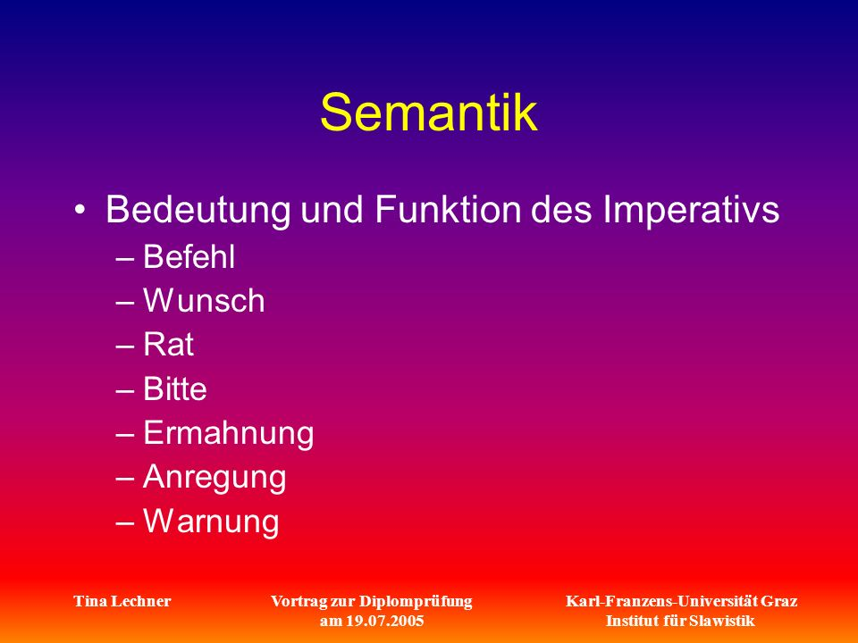Vortrag zur Diplomprüfung am 19.07.2005