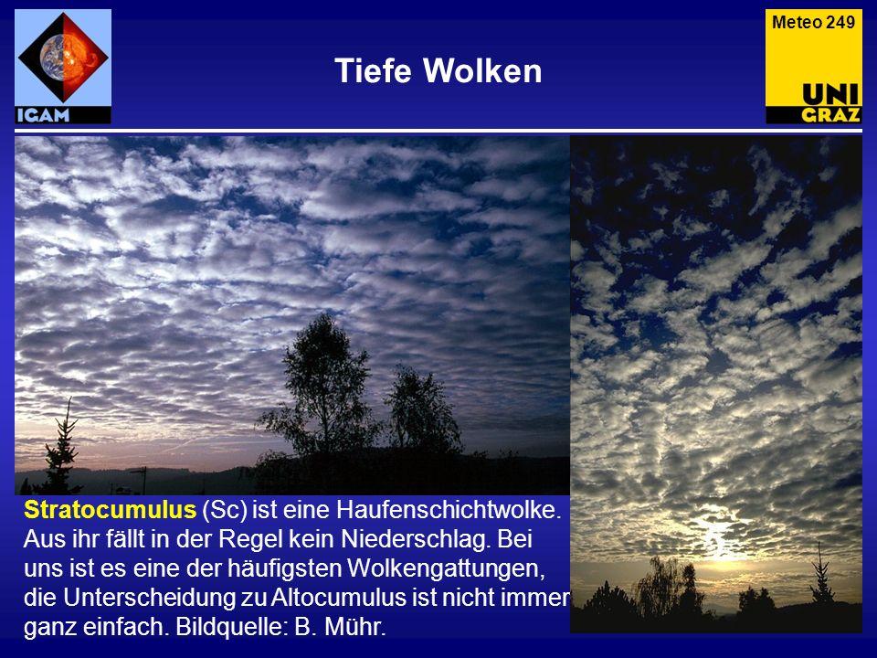 Meteo 249 Tiefe Wolken.