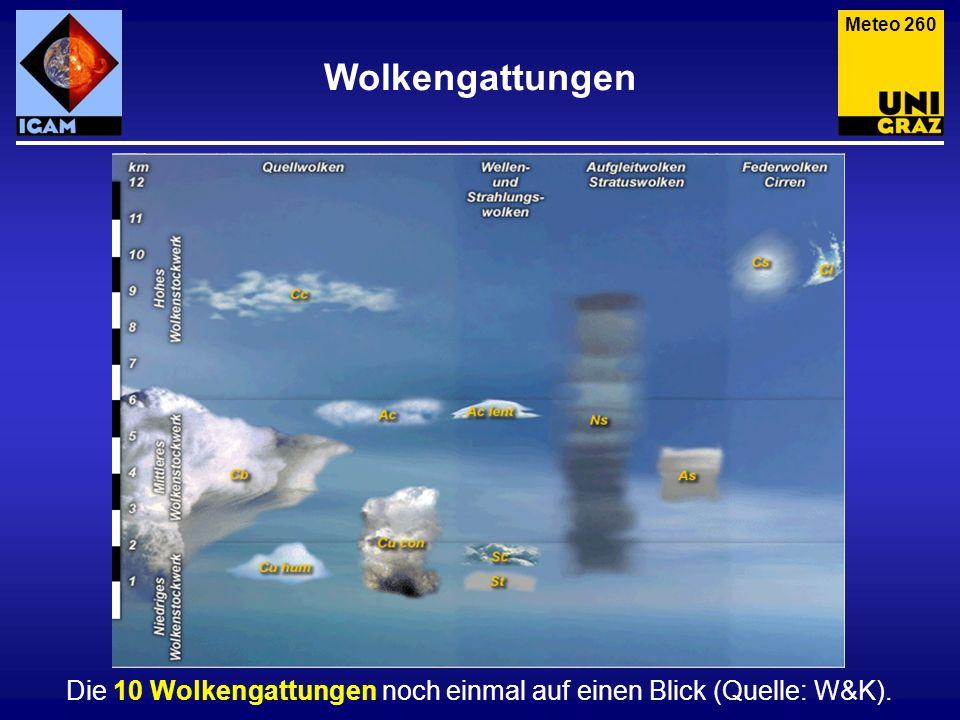Meteo 260 Wolkengattungen.