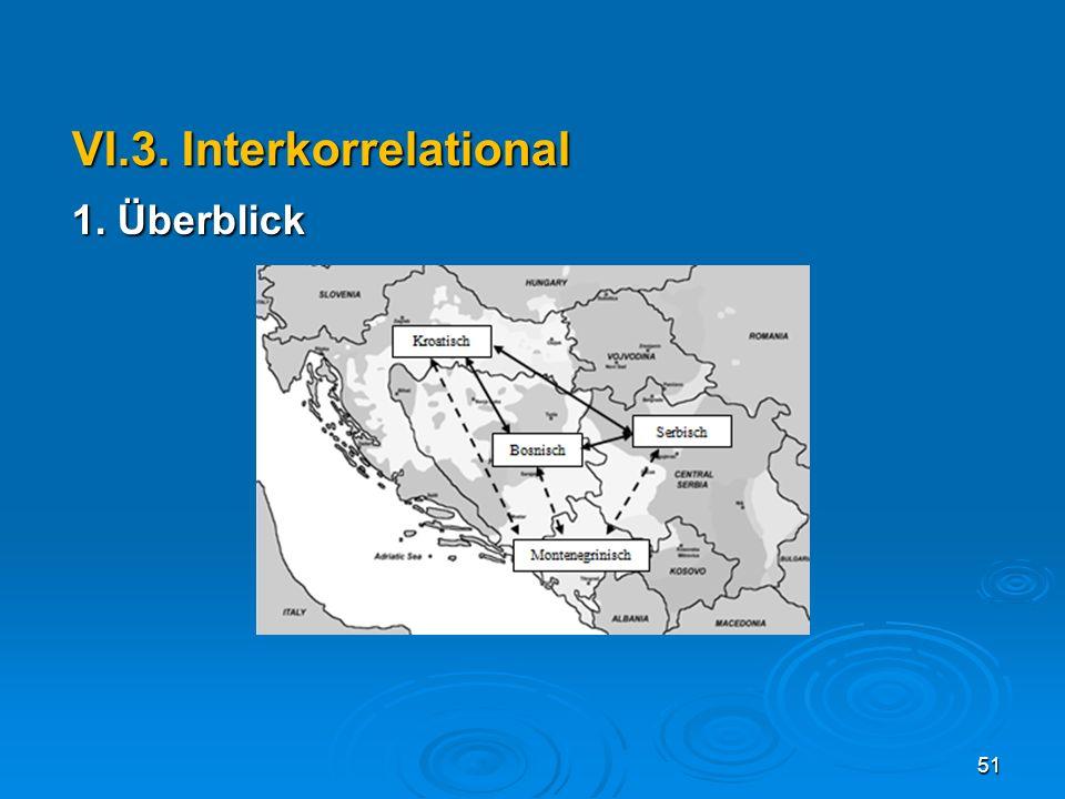 VI.3. Interkorrelational 1. Überblick