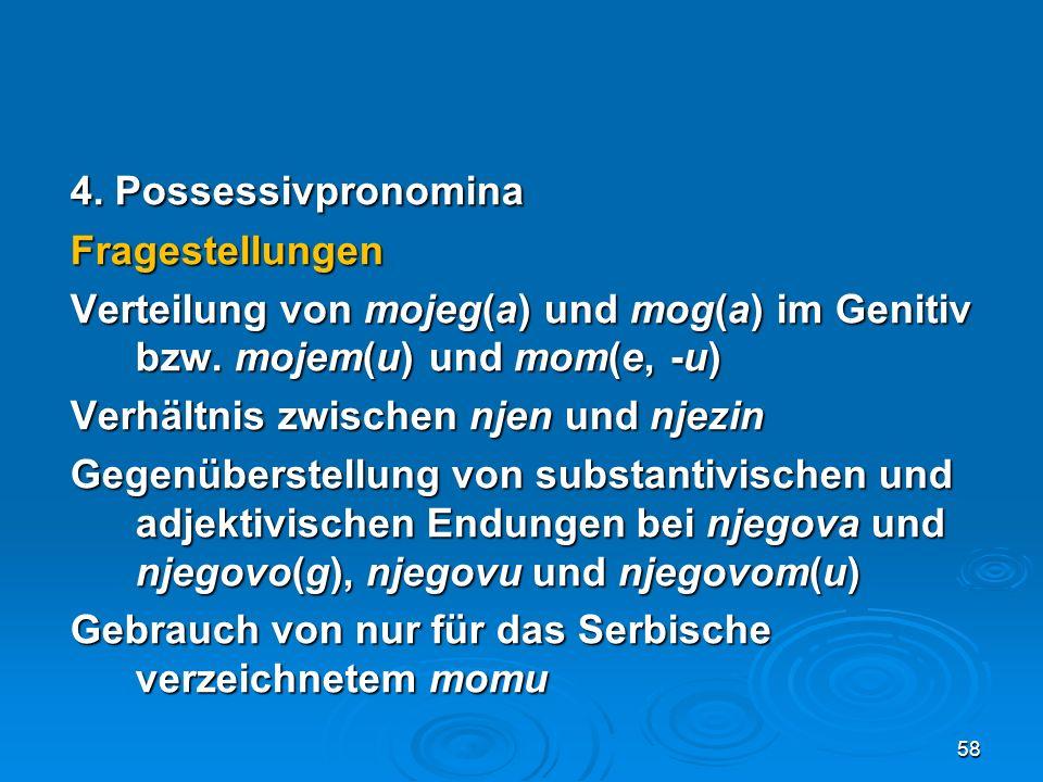 4. Possessivpronomina Fragestellungen