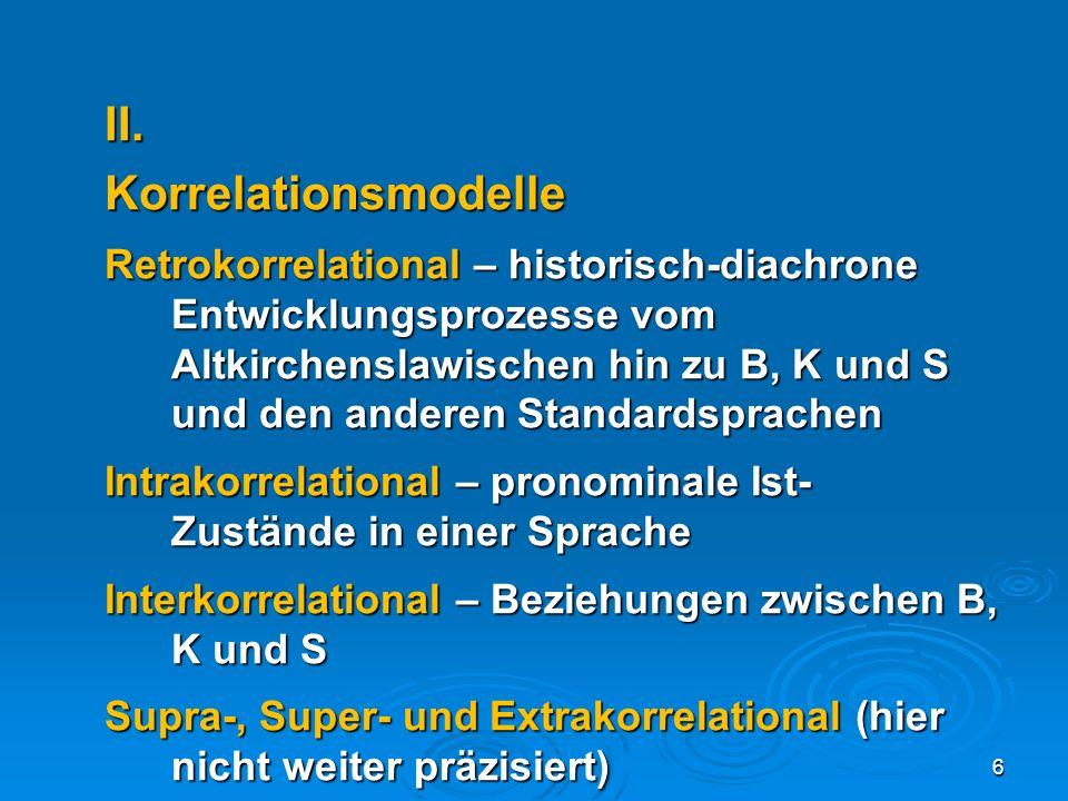 II. Korrelationsmodelle