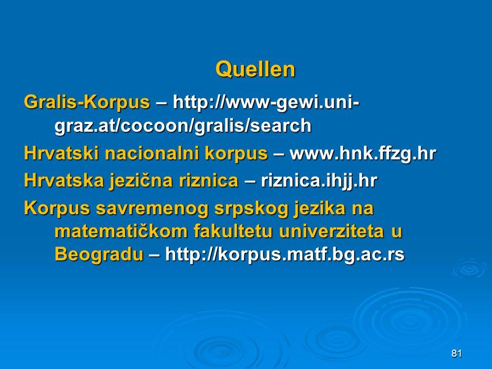 Gralis-Korpus – http://www-gewi.uni- graz.at/cocoon/gralis/search