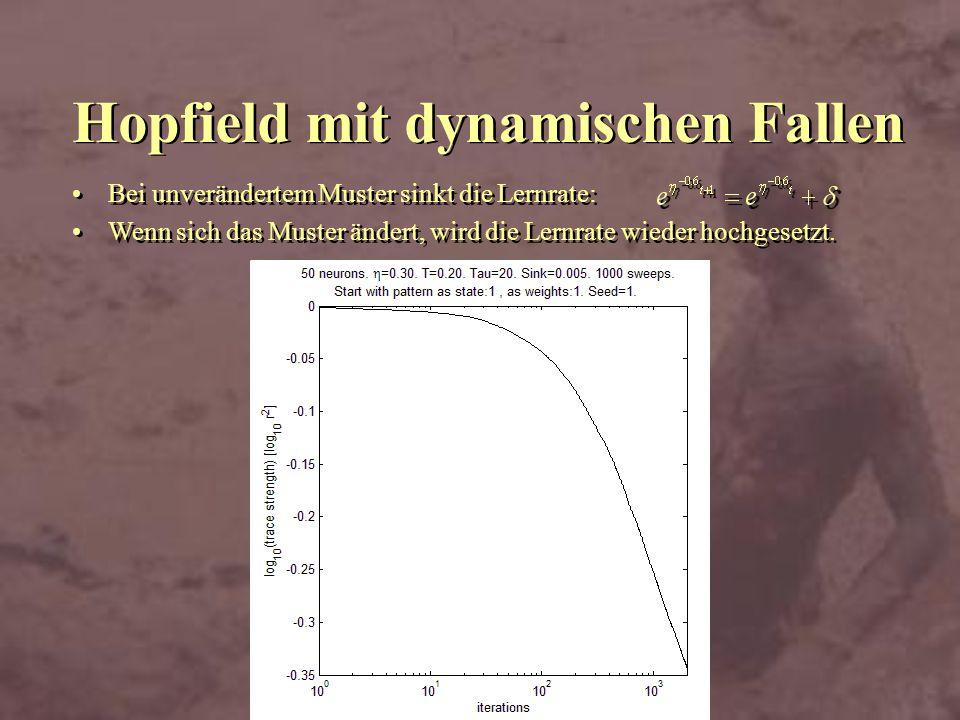 Hopfield mit dynamischen Fallen