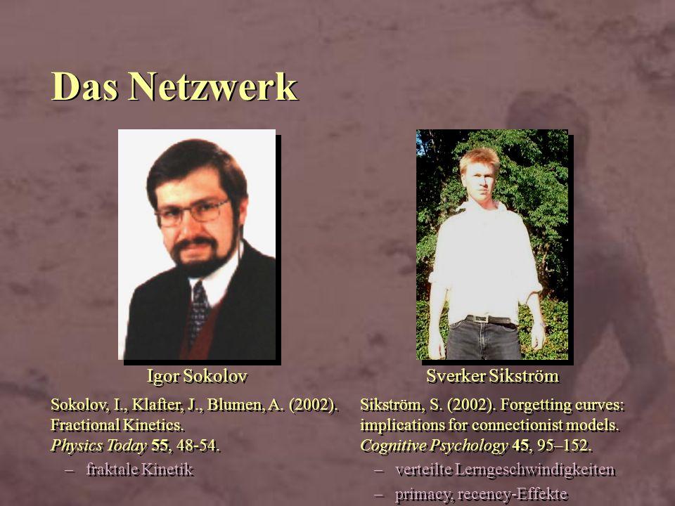 Das Netzwerk Igor Sokolov Sverker Sikström