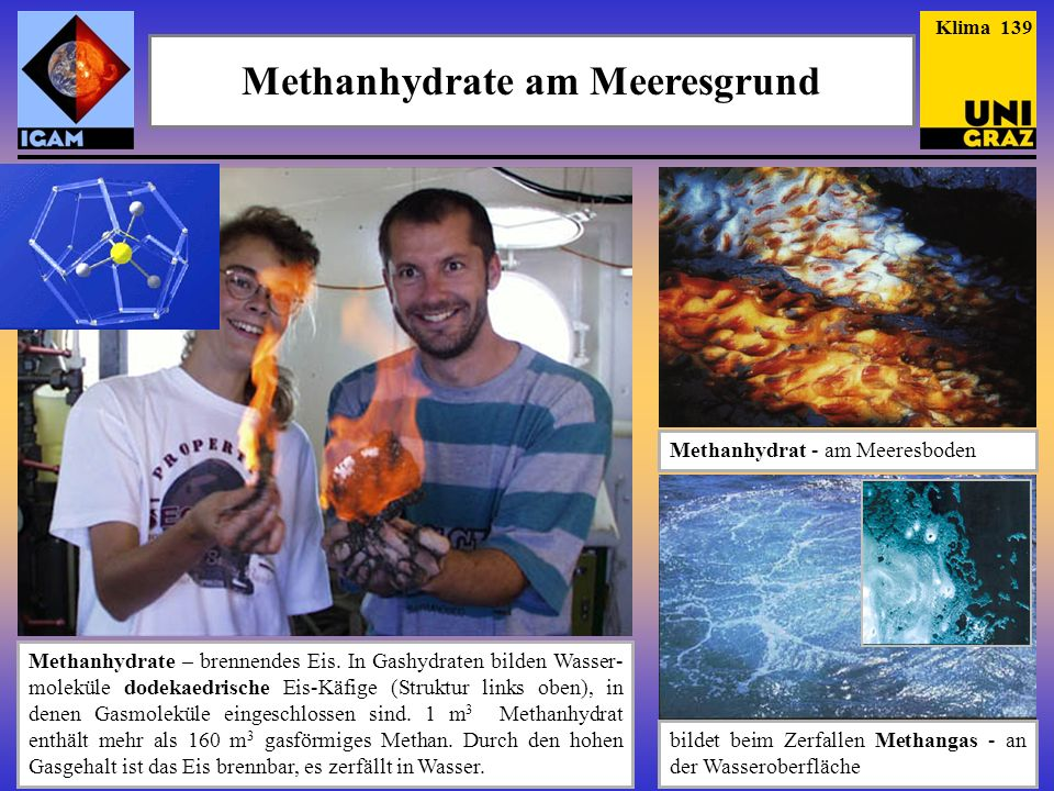 Methanhydrate am Meeresgrund
