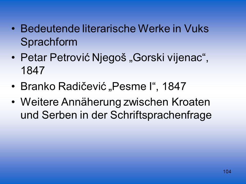 Bedeutende literarische Werke in Vuks Sprachform