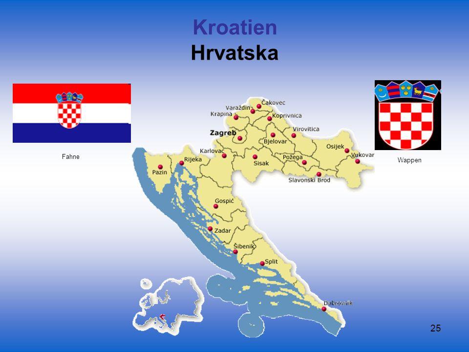 Kroatien Hrvatska Fahne Wappen