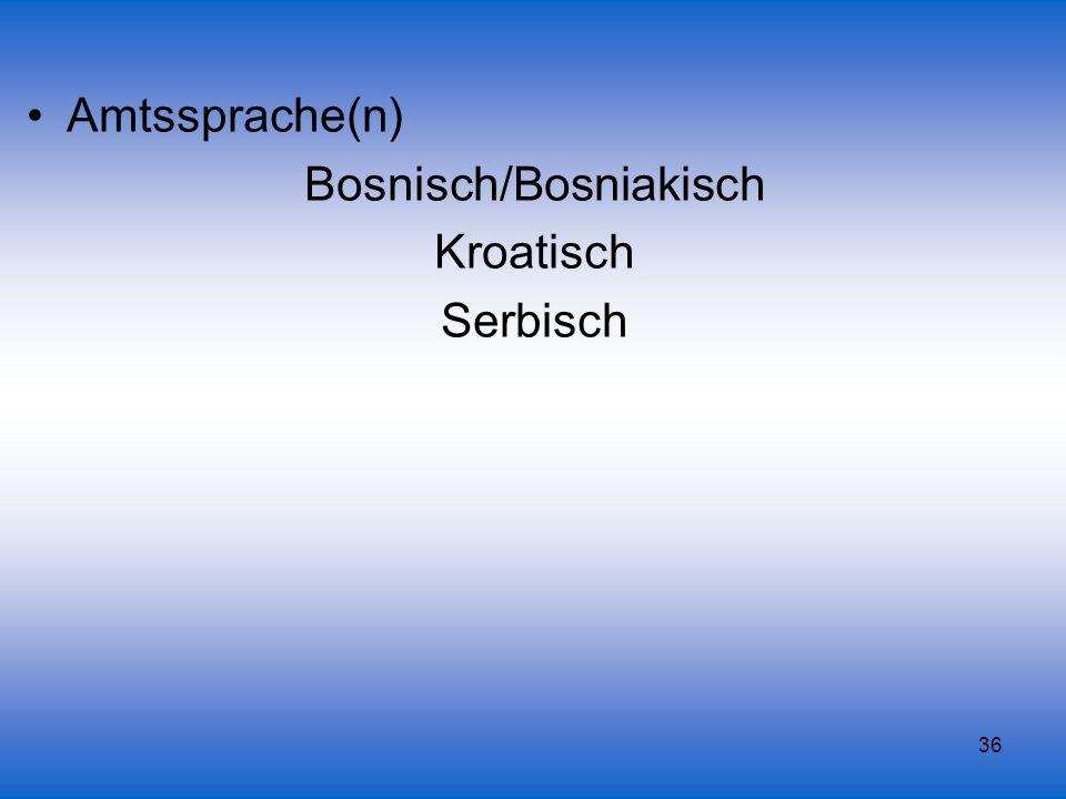Bosnisch/Bosniakisch