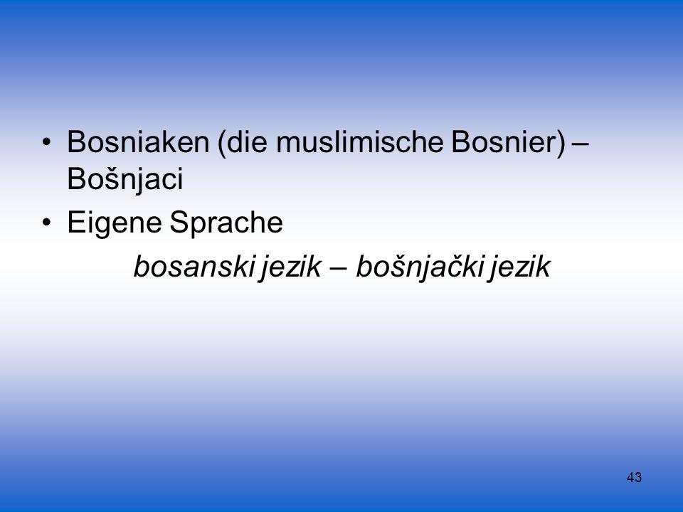 bosanski jezik – bošnjački jezik
