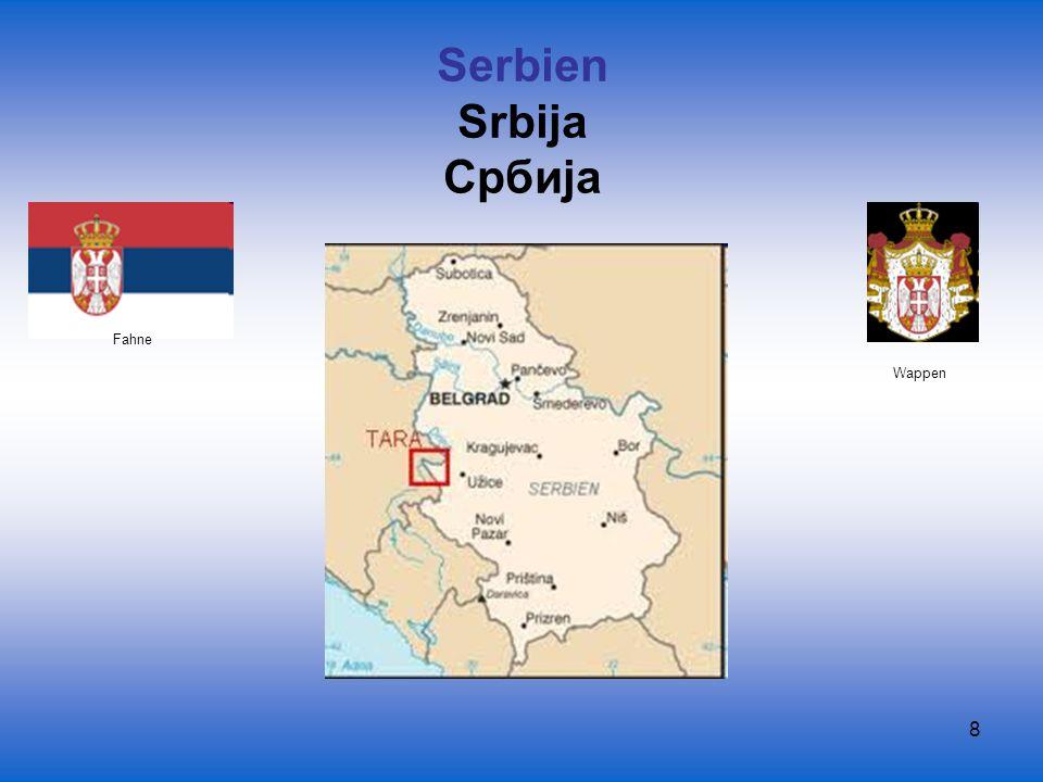 Serbien Srbija Србиjа Fahne Wappen