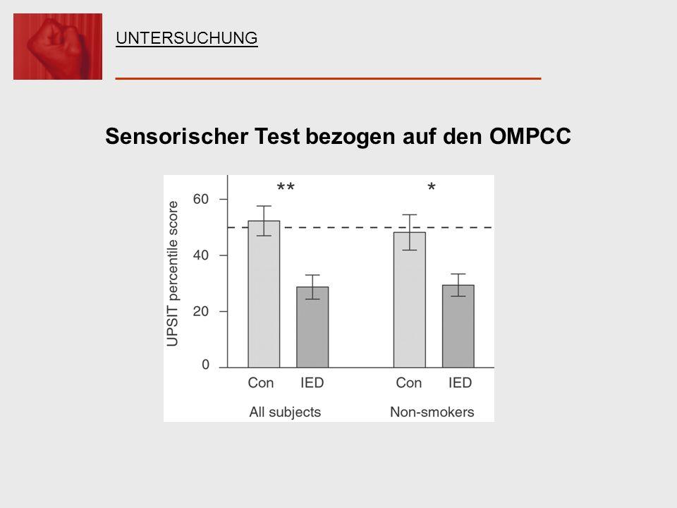 Sensorischer Test bezogen auf den OMPCC