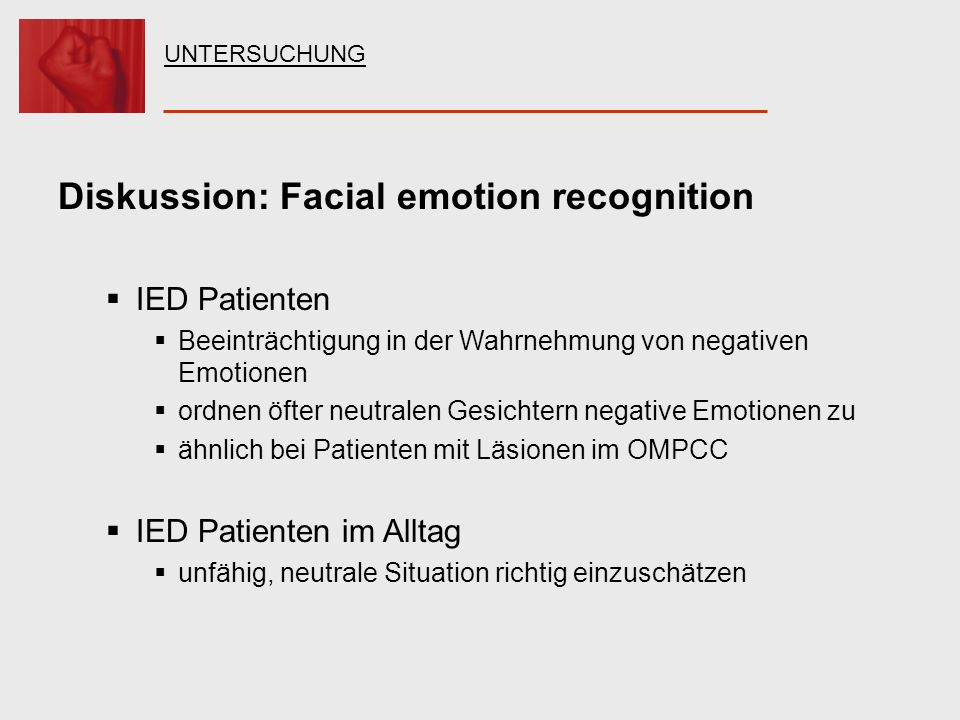Diskussion: Facial emotion recognition