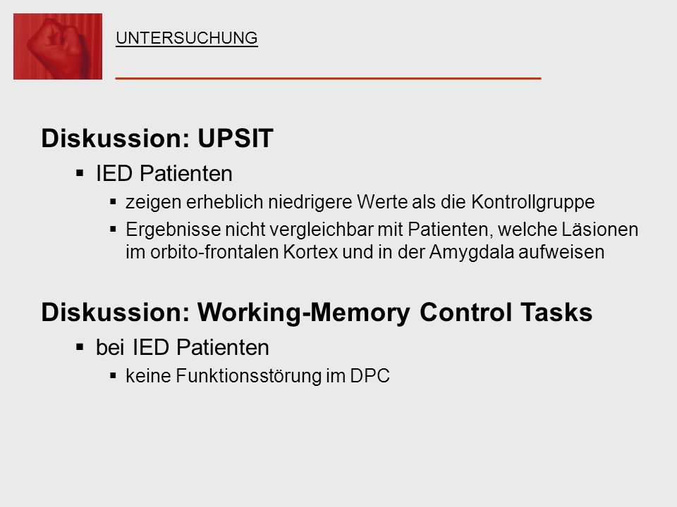 Diskussion: Working-Memory Control Tasks