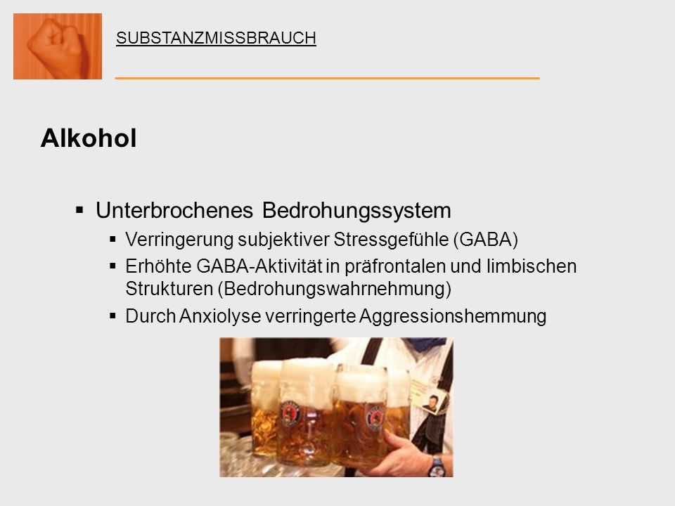 Alkohol Unterbrochenes Bedrohungssystem