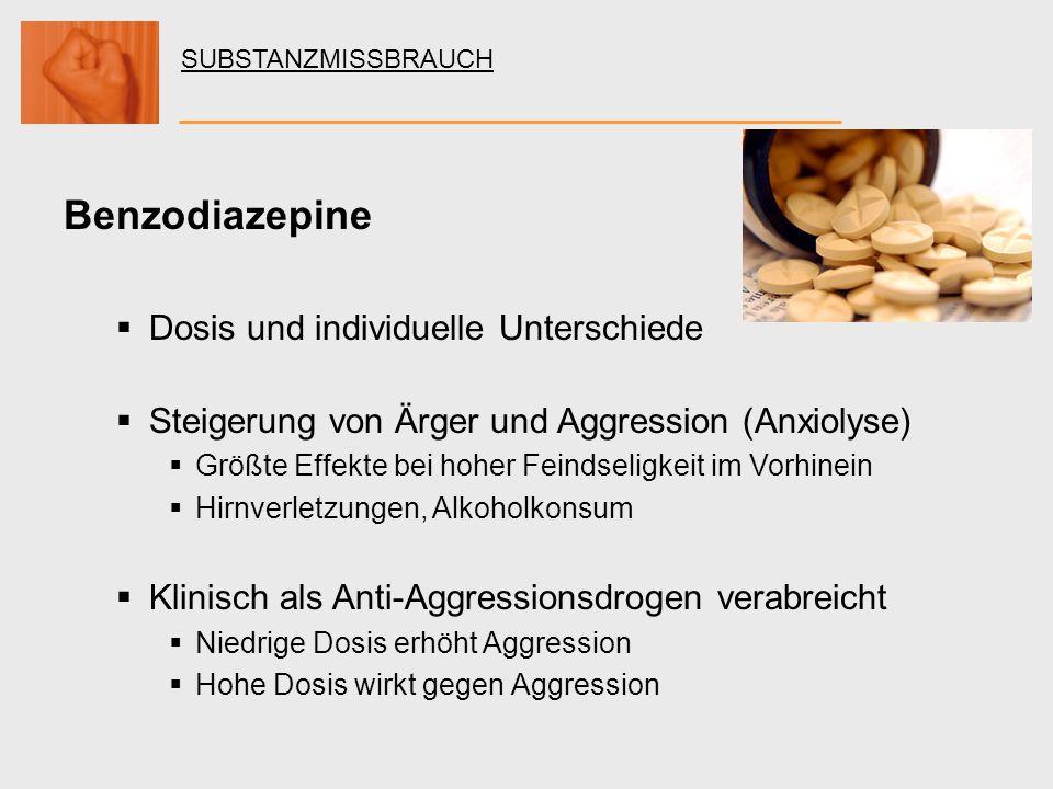 Benzodiazepine Dosis und individuelle Unterschiede