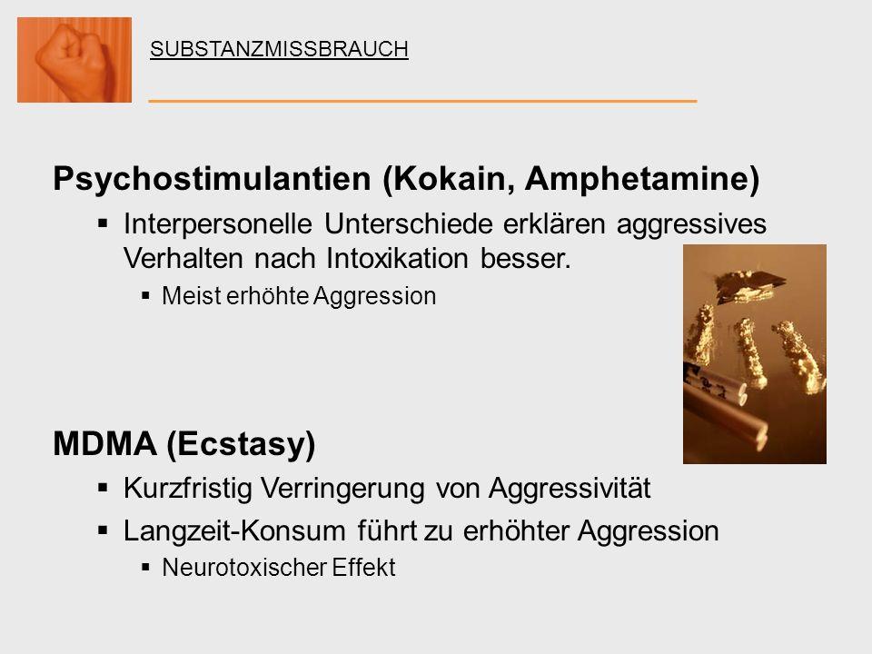 Psychostimulantien (Kokain, Amphetamine)