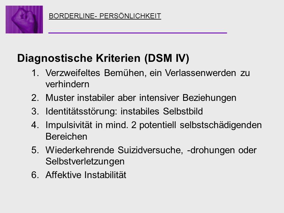 Diagnostische Kriterien (DSM IV)