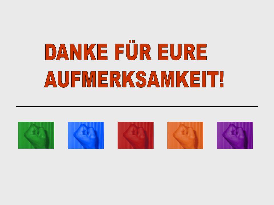 DANKE FÜR EURE AUFMERKSAMKEIT!