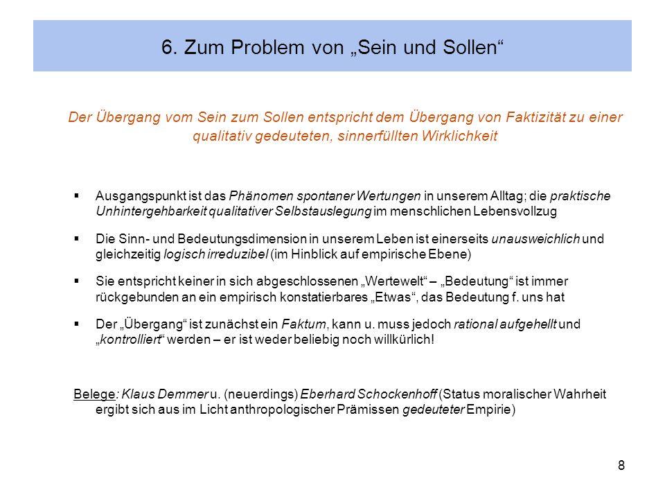 """6. Zum Problem von """"Sein und Sollen"""