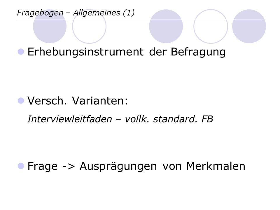 Fragebogen – Allgemeines (1)