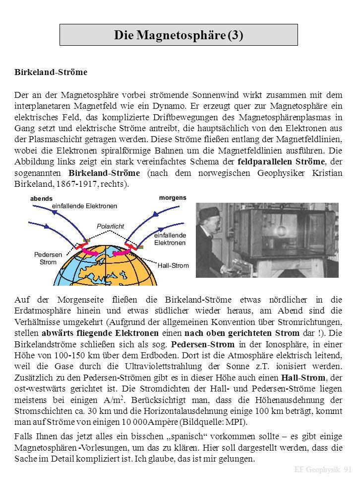 Die Magnetosphäre (3) Birkeland-Ströme