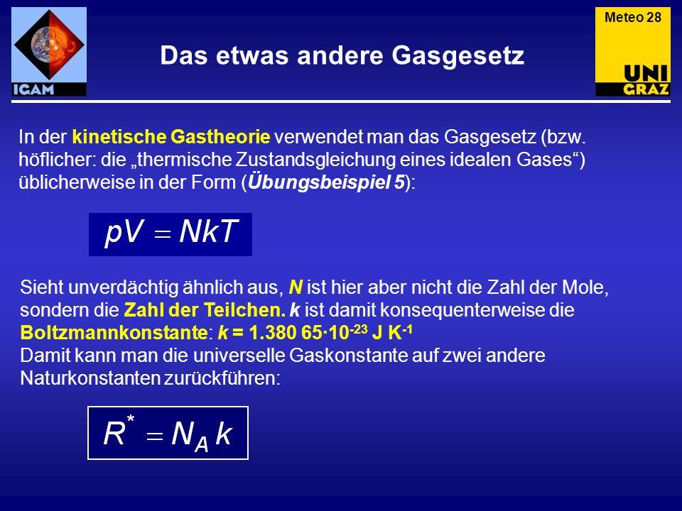 Das etwas andere Gasgesetz