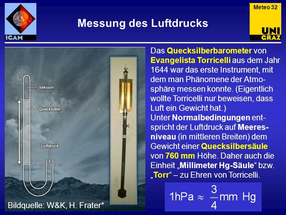 Messung des Luftdrucks