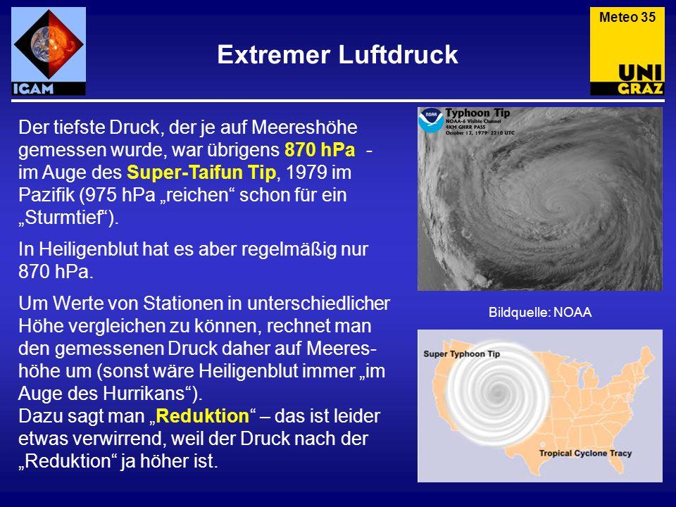 Meteo 35 Extremer Luftdruck.