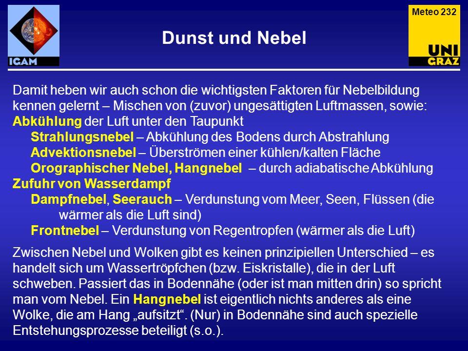 Meteo 232 Dunst und Nebel.